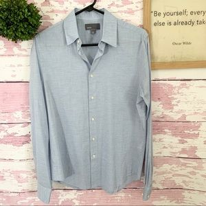 VINCE Men's Blue Chambray Button Down Shirt Small